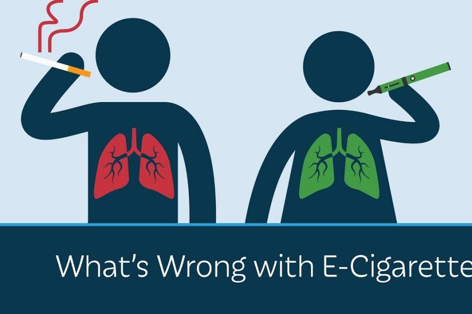 e-cigarette or smoking