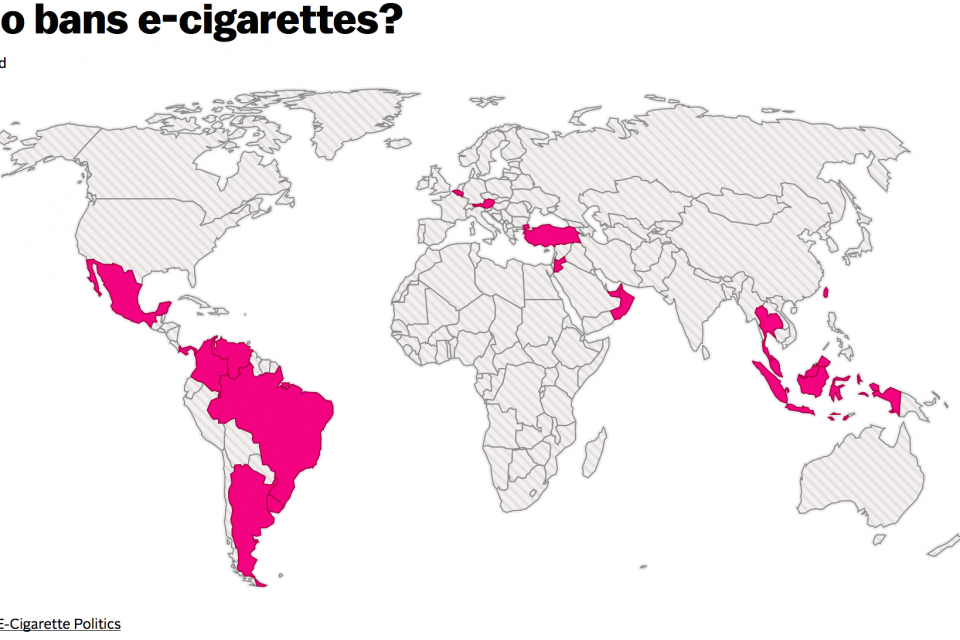 e-cigarettes and world legislation